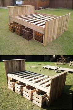 16 Storage DIYs to Pack More Stuff Under the Bed Page 2 of 17 Pallet Bed Frame with Crate Storage (DIY) The post 16 Storage DIYs to Pack More Stuff Under the Bed Page 2 of 17 appeared first on Pallet Diy.