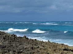 A breezy day along to ocean beach, Green Turtle Cay, Bahamas. Save Save Save