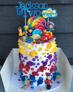 Wiggles buttercream cake rainbow Source by Wiggles Birthday, Rainbow First Birthday, Wiggles Party, 3rd Birthday Cakes, Boy Birthday Parties, Birthday Ideas, Wiggles Cake, Buttercream Cake, Raspberry Buttercream