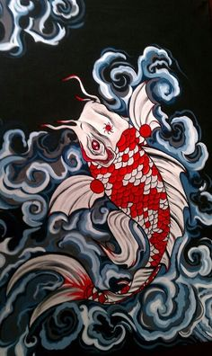 Koi    love , love , love, this koi by my great neice Hollie! look at all the rest of her work.