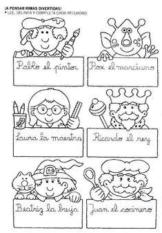 Mi primer etapa escolar : Fichas de apoyo para fortalecer la lectura y escritura Elementary Spanish, Spanish Lessons, Literacy, Preschool, Language, Bullet Journal, Letters, Education, Reading