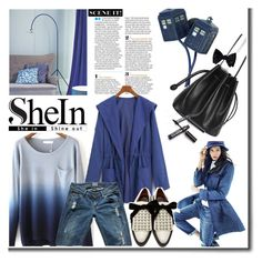 """""""Blue Shine"""" by cherry1987 ❤ liked on Polyvore featuring VILA, Munro American, Hudson Jeans and Marc by Marc Jacobs"""
