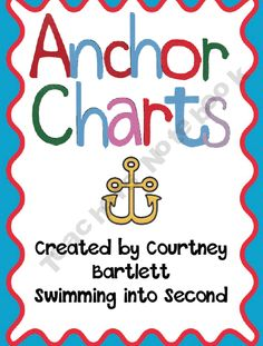 Second grade anchor charts