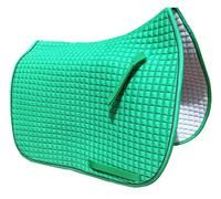 Custom Made Dressage Saddle Pad In Hunter Green Material