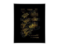 Lego Patent Illustration    Gold Foil Print    Leg #Art #Classic #Foil #Gold #illustration #Leg #Lego #Patent #Poster #print #Retro #Toy Lego Patent, Impression Feuille D'or, Lego Wall Art, Patent Drawing, Gold Foil Print, Typography Quotes, Retro Toys, Patent Prints, Classic Toys