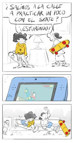 Humor de gamers en skate!! Sk8!