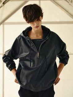 Amra Cerkezovic - Asos Over-sized leather hoody, black, grey