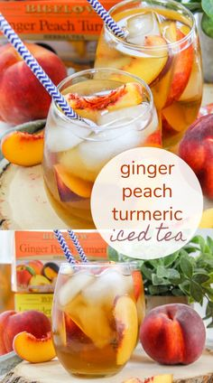This delicious Ginger Peach Turmeric Iced Sweet Tea recipe is perfect with or without a shot of bourbon. Best Nutrition Food, Health And Nutrition, Nutrition Products, Nutrition Guide, Child Nutrition, Fitness Nutrition, Health Care, Sweet Tea Recipes, Best Cocktail Recipes