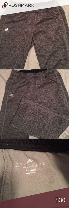 Adidas Grey Climawarm Size L The most comfortable pair of sweatpants! Too short on me, grey and black heather design goes with everything! Adidas Pants Track Pants & Joggers