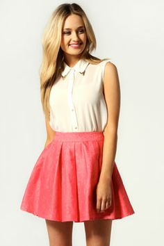 You have a skirt like this, would look really good just a different top