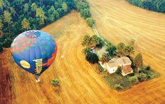 hot air ballooning in Chianti, Tuscany Balloon Flights, Europe, Dmc, Hot Air Balloon, Shades Of Green, Tuscany, Special Events, Balloons, Italia