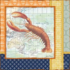 Nautical Journey-lobster Digital Art