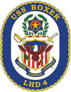 USS Boxer (LHD 4) ship crest