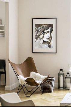 Fine Art Prints, Original Artwork Print, Art Print Wall Decor, Woman Face Canvas Print, Watercolor P Brown Wall Decor, Gifts For Art Lovers, Black And White Posters, Bedroom Prints, Modern Art Paintings, Extra Large Wall Art, Brown Walls, Butterfly Chair, Bohemian Decor