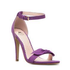 Sweet purple bow pumps.