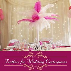 Stop being mainstream with the floral wedding centrepieces & try the new & fabulous wedding centre pieces made of feathers. Visit for wholesale feathers: goo. Table Centerpieces, Wedding Centerpieces, Wedding Decorations, Table Decorations, Wedding Looks, Diy Wedding, Floral Wedding, Wedding Ideas, Pheasant Feathers