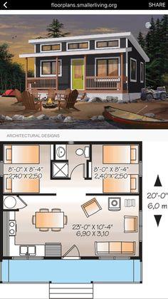 Tiny house plans, house floor plans, prefab homes, tiny homes, small houses Sims House Design, Small House Design, Cottage Design, Modern Tiny House, Tiny House Cabin, Tiny House Living, Sims House Plans, Small House Floor Plans, Shed Homes