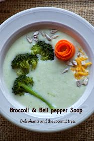 Broccoli and Bell pepper soup / Broccoli and Capsicum Soup