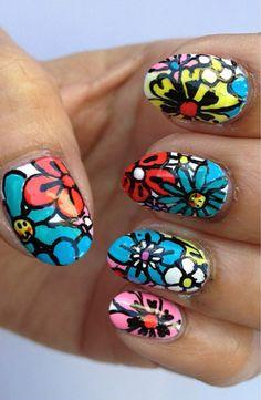 flower #manicure #nailart