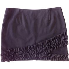 Pre-owned MAJE BLACK MINI SKIRT, SIZE 40 ($94) ❤ liked on Polyvore featuring skirts, mini skirts, short skirt, maje, maje skirt and short mini skirts