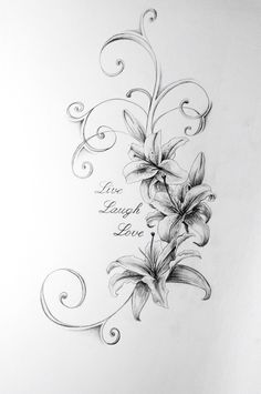 Five Reasons You Should Fall In Love With Lily Flower Tattoo Drawing Lilly Flower Tattoo, Lillies Tattoo, Flower Tattoo Drawings, Flower Tattoo Designs, Flower Tattoos, Sketch Tattoo, Lily Tattoo Design, Lilly Flower Drawing, Lilies Drawing