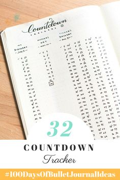 Countdown Tracker - Tiny Ray of Sunshine (100 Days of Bullet Journal Ideas)