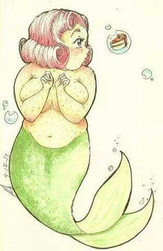 - plus size mermaid drawing