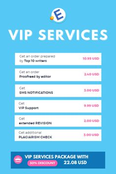Get a 30% #discount on our #VIP #Services. You will face the cheapest prices and the highest #quality written #papers. You will #save more than 20 USD. So why not #order and make sure that Essay-professors.com is the #best #online #academic #help? #essay #student #students