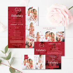 Valentine's Mini Session Marketing Bundle - Photo Marketing Templates - Photographer Templates