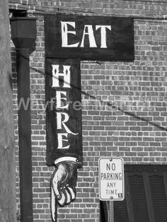 Eat Here by Mandy Solomon 12x16 Print by WayfarerMarket on Etsy, $40.00