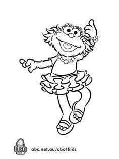 Elmo Playing Skate Board Coloring Page Elmo Coloring
