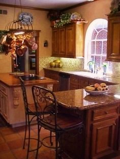 OLD WORLD FRENCH COUNTRY TUSCAN KITCHEN REMIX, Changed everything (including kitchen sink!).  We moved too often to do anything structural.  Gentle decorating suggestions welcomed!  Just added a pic showing the view from window....brick wall is our detach