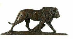 Bronze African Animal sculpture by artist David Mayer titled: 'Lion (Striding Bronze African Sculpture)' £3300 #sculpture #art