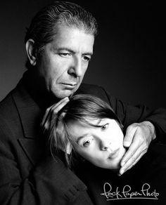 Leonard Cohen & Suzanne Vega by Deborah Feingold