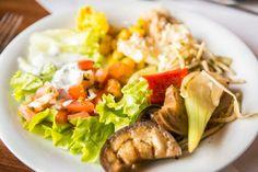 vegetarisch/vegan essen im #biohotel Helvetia im Biodorf Schmilka  ©Achim Meurer