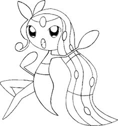 pokemon coloring pages to print out | Coloring Pages Pokemon - Meloetta - Drawings Pokemon