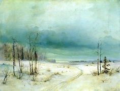 Alexei Kondratyevich Savrasov - Winter, (the late 1870s - early 1880s). Oil on canvas, 53 x 71 cm. The State Russian Museum, St. Petersburg, Russia.