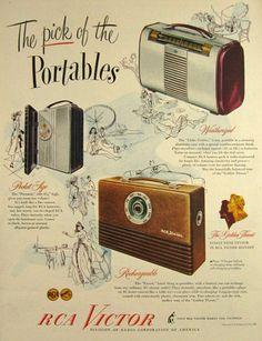 1947 ad RCA Victor reto portable radio