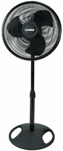 Lasko's No. #2521 16-inch oscillating pedestal fan battles stifling summer heat or stuffy enclosed spaces with an arsenal of effective air-cooling features. Perc...