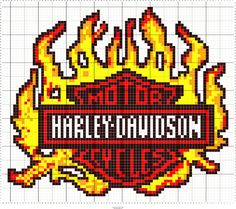 Exceptional Harley Davidson images are available on our site. Cross Stitch Pillow, Cross Stitch Baby, Cross Stitch Charts, Counted Cross Stitch Patterns, Cross Stitch Designs, Quilt Patterns Free, Crochet Blanket Patterns, Graph Crochet, Cross Stitch Pattern Maker