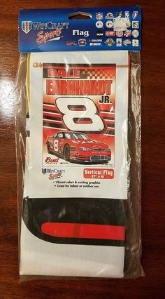 "Dale Earnhardt Jr #8 Wincraft Sports 27"" X 41"" Inch Vertical Hanging Flag NEW 