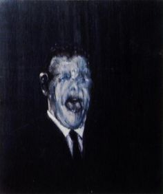 three studies of the human head, 1953 (center panel), Oil by Francis Bacon (1561-1626, United Kingdom)