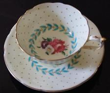 Paragon Floral on Pale Yellow Tea Cup and Saucer Mint condition