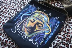 SANTANA  Upcycled Rock Band Tshirt Sling Tote Bag OoAK by evilrose, $28.50