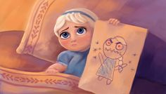 Ok, I couldn't resist one more Monsters inc/Frozen crossover, Elsa shows Marshmallow the real monster. My Monster Frozen Book, Frozen Fan Art, Elsa Frozen, Disney Frozen, Disney And Dreamworks, Disney Pixar, Monsters Inc Boo, Anna Y Elsa, Jack And Elsa