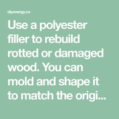 Use a polyester filler to rebuild rotted or damaged wood. You can mold and shape it to match the original wood profile. It takes paint well and wont rot. - diyenergy.co