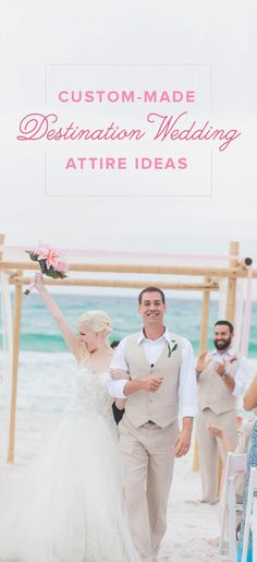 Custom-made Destination Wedding Outfit Ideas - see more fun, colorful destination wedding attire themes in all-natural, linen and silk from @islandimporter!