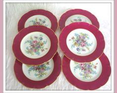 Vintage Theodore Haviland Limoges Set of 6 Dinner Plates - SALE