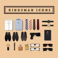 Kingsman Collection Flat Icons Set For Mac Instant by Echoian The Kingsmen Movie, Kingsman Movie, Kingsman The Secret Service, Taron Edgerton, Oxford Brogues, Golden Circle, Great Films, Manners, Icon Set