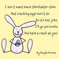 Easter Poem by Purple Ronnie